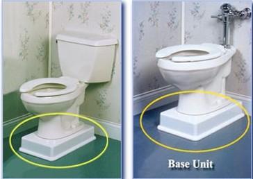 Toilet Pedestal Riser